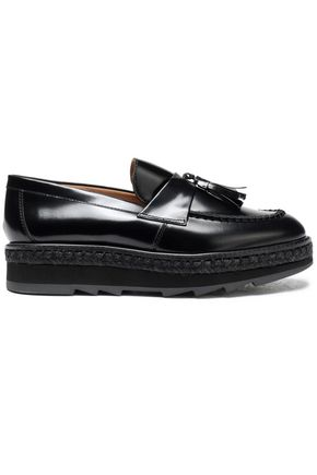 CASTAÑER Tasseled leather platform loafers