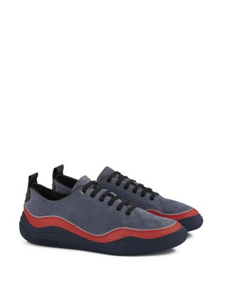 SUEDE CALFSKIN LEATHER DIVING SNEAKER