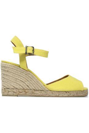CASTAÑER Canvas espadrille wedge sandals