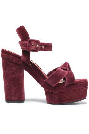 CASTAÑER Knotted velvet platform sandals