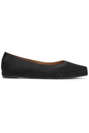 CASTAÑER Satin espadrille point-toe flats