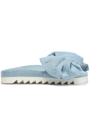 JOSHUA*S Knotted denim slides