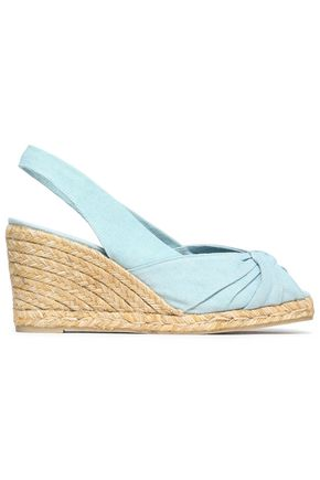 CASTAÑER Dayana twisted canvas wedge espadrilles