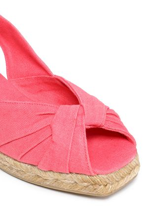 CASTAÑER Twisted canvas espadrille wedge sandals