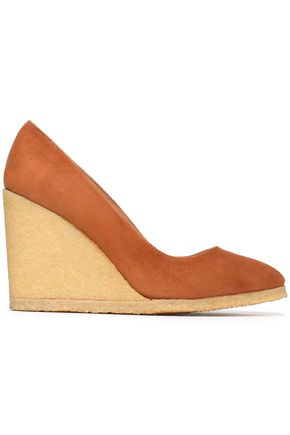CASTAÑER Suede wedge pumps