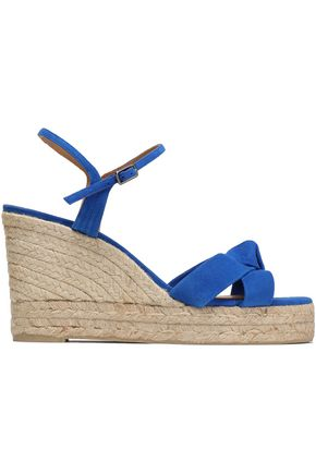 CASTAÑER Knotted suede epsadrille wedge sandals
