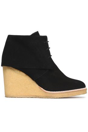 CASTAÑER Suede wedge ankle boots