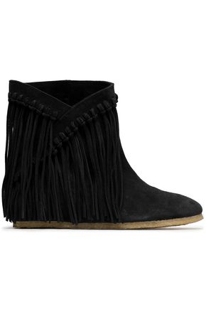 CASTAÑER Fringed suede ankle boots