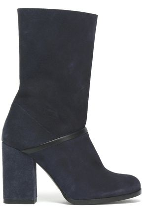 CASTAÑER Leather-trimmed suede ankle boots