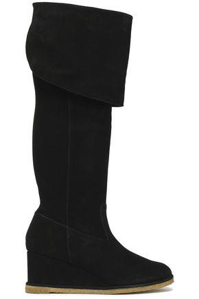 CASTAÑER Suede wedge boots