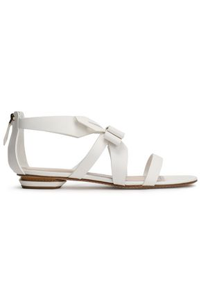 NICHOLAS KIRKWOOD Origami bow-embellished leather sandals