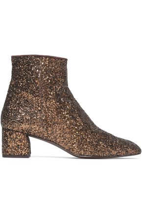 CASTAÑER Glittered leather ankle boots