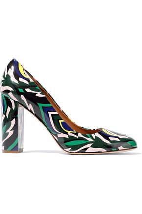M MISSONI Printed patent-leather pumps