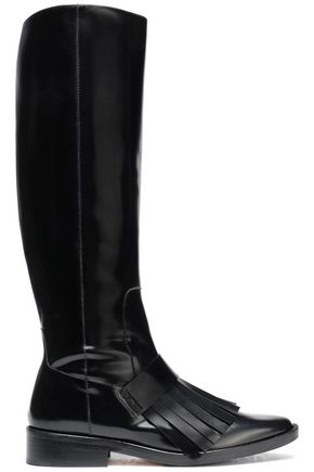 CASTAÑER Fringed patent-leather boots