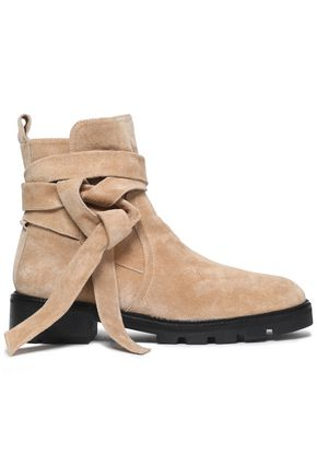 CASTAÑER Knotted suede ankle boots