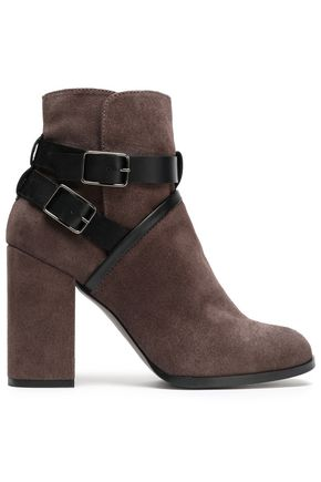 CASTAÑER Buckled suede ankle boots