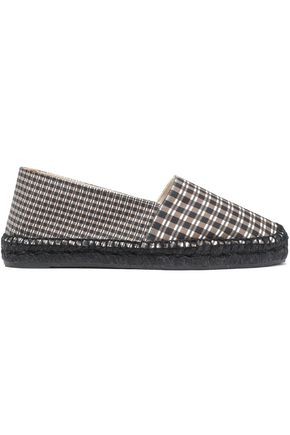 CASTAÑER Checked canvas espadrilles