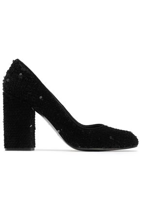 CASTAÑER Sequined suede pumps
