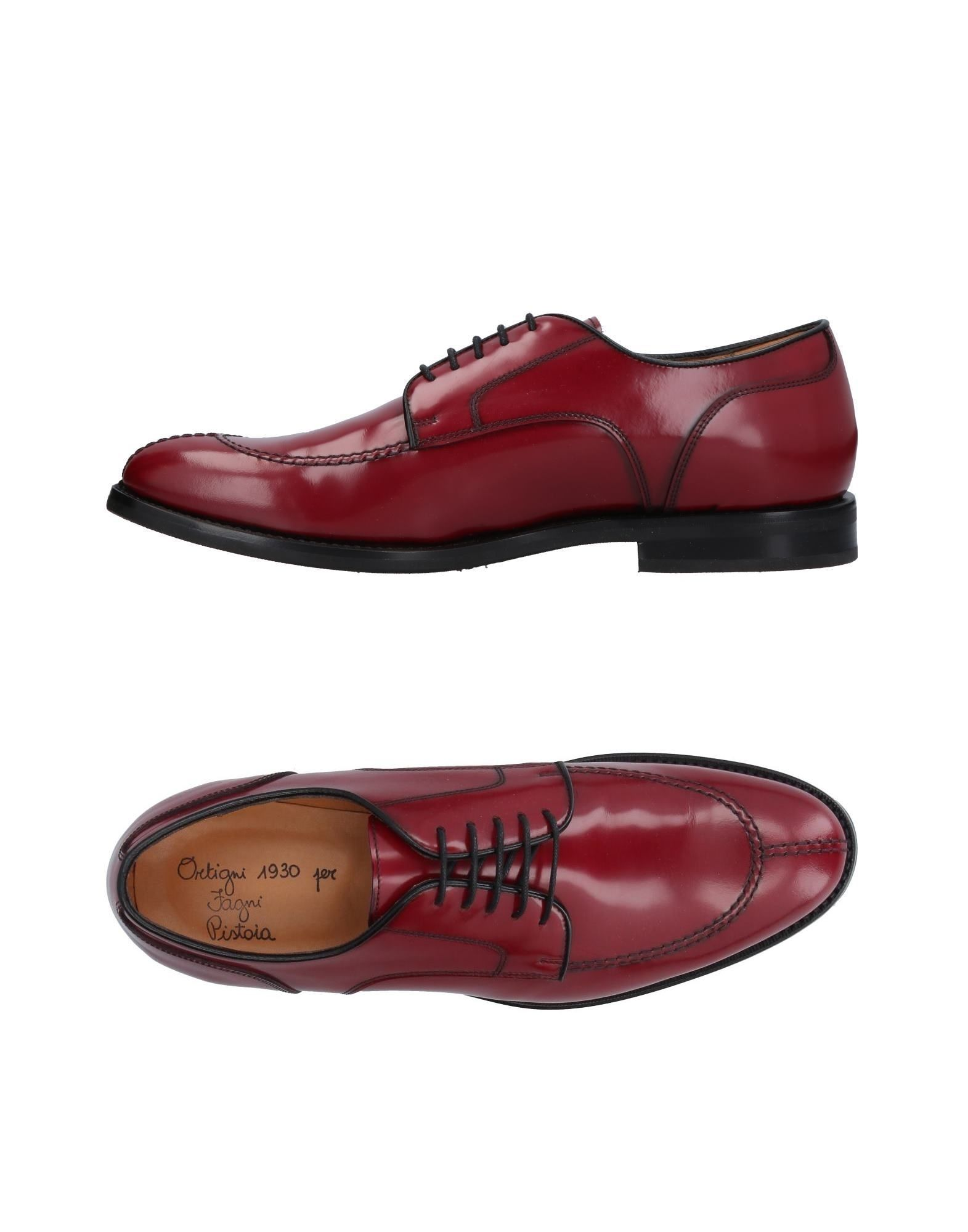 ORTIGNI Laced Shoes in Maroon