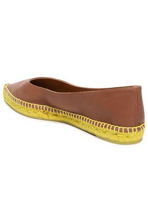 CASTAÑER Leather espadrille point-toe flats