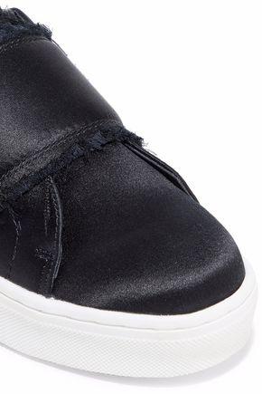 1b645e971de9 ... SAM EDELMAN Levine frayed satin slip-on sneakers ...