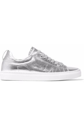 IRIS & INK Raye metallic leather sneakers