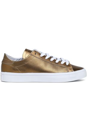 ADIDAS ORIGINALS Metallic leather sneakers