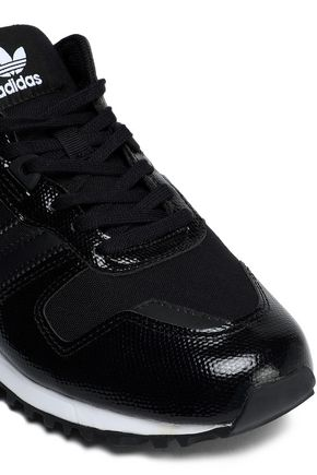 ADIDAS ORIGINALS Snake-effect leather and mesh sneakers