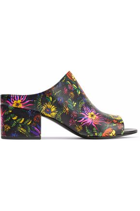 3.1 PHILLIP LIM Cube floral-print leather mules