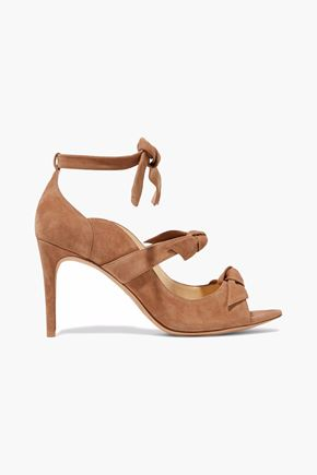 ALEXANDRE BIRMAN Knotted suede pumps