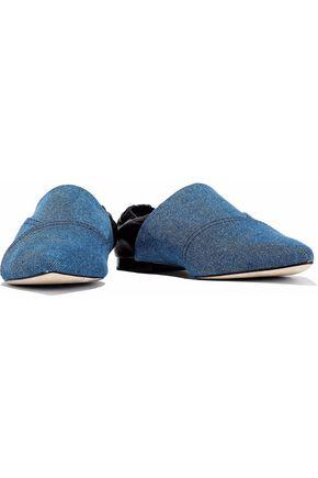 3.1 Phillip Lim Woman Two-tone Leather And Denim Point-toe Flats Mid Denim Size 39 3.1 Phillip Lim Discount Footlocker Finishline zSXSD7aX2o