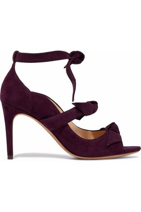 ALEXANDRE BIRMAN Bow-detailed suede sandals