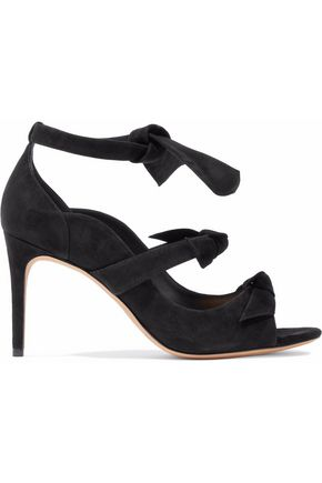 ALEXANDRE BIRMAN Cutout bow-detailed suede sandals
