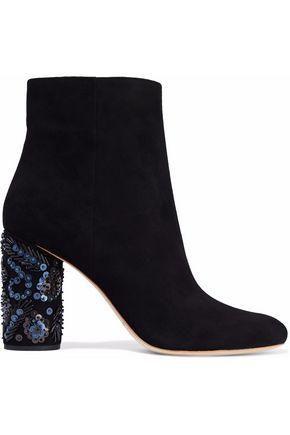 LOEFFLER RANDALL Embellished suede ankle boots