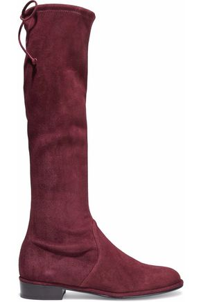 STUART WEITZMAN Suede over the knee boots