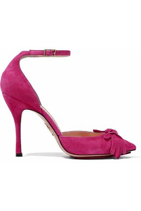 CHARLOTTE OLYMPIA Knot-detailed suede pumps