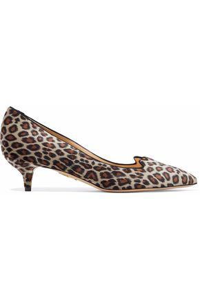 CHARLOTTE OLYMPIA Leopard-print velvet pumps