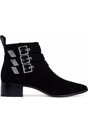 LOEFFLER RANDALL Buckled suede ankle boots