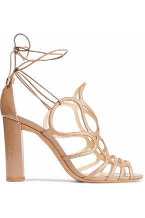 ALEXANDRE BIRMAN Cutout patent-leather sandals