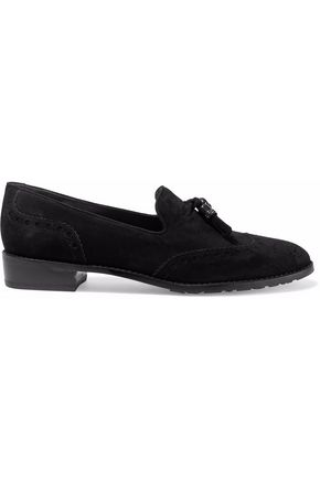 STUART WEITZMAN Guy Thing tasseled suede loafers