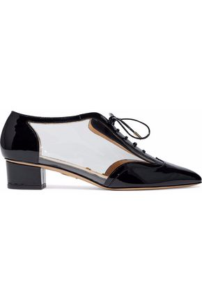 CHARLOTTE OLYMPIA Patent-leather and PVC brogues