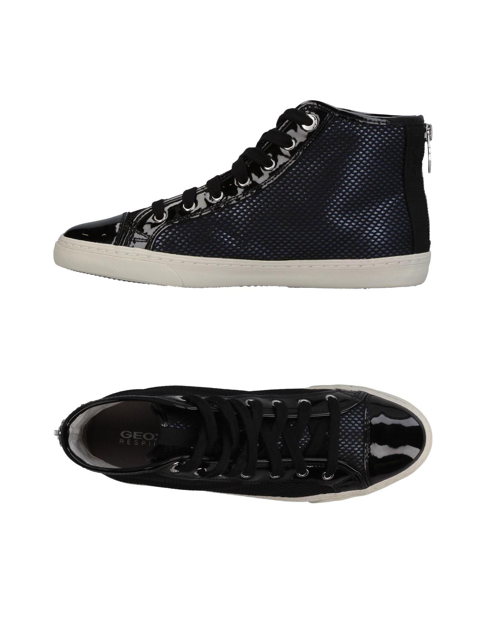 《送料無料》GEOX レディース スニーカー&テニスシューズ(ハイカット) ブラック 35 革 / 紡績繊維