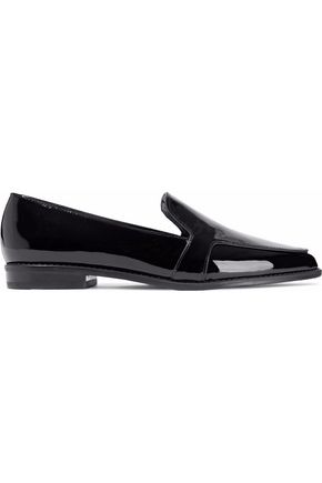 STUART WEITZMAN Pipelopez patent-leather loafers