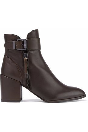 STUART WEITZMAN Laptop buckled leather ankle boots
