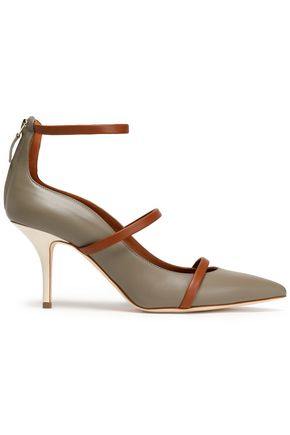 MALONE SOULIERS Color-block leather pumps