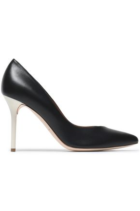 MALONE SOULIERS Two-tone leather pumps