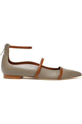 MALONE SOULIERS Two-tone leather point-toe flats