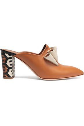 MALONE SOULIERS Ruffled leather mules