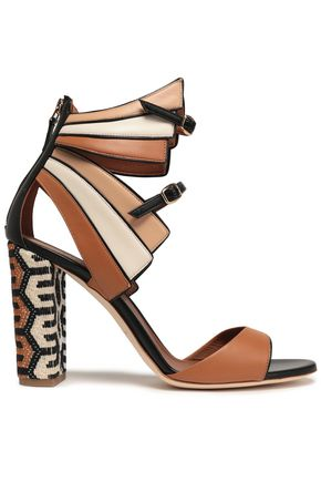 MALONE SOULIERS Color-block leather sandals