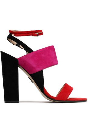 PAUL ANDREW Color-block suede sandals